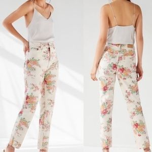 Urban Outfitters NWT Floral Mom High Rise Jeans